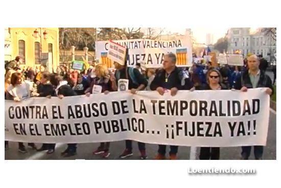 Manifestación interinos en Madrid, 15 de febrero de 2020