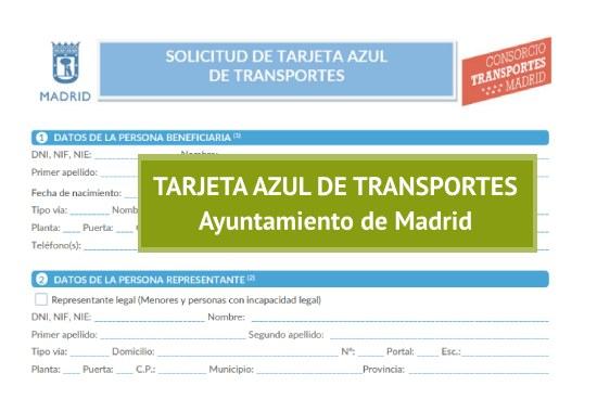 Tarjeta azul de transportes de Madrid