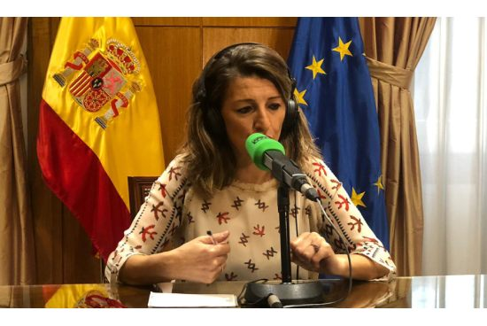 Entrevista en Onda Cero a Yolanda Díaz Ministra de Trabajo