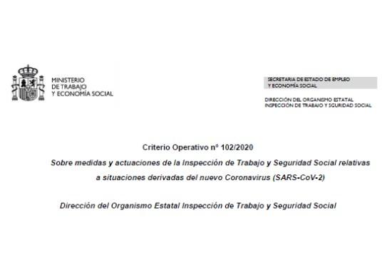 Criterio operativo inspección de trabajo