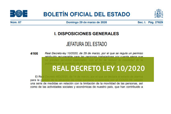 Real Decreto Ley 10/2020