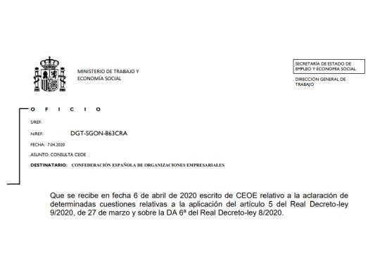 Respuesta de la DGT a consultas de la CEOE