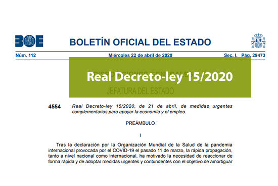 Real Decreto-ley 15/2020