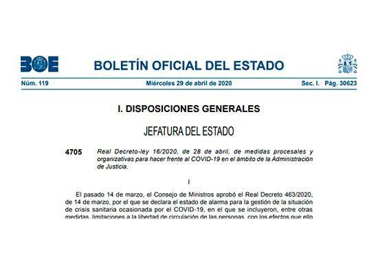 Real Decreto-Ley 16/2020