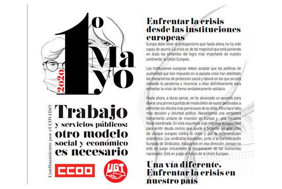 CCOO y UGT ante el 1º de mayo
