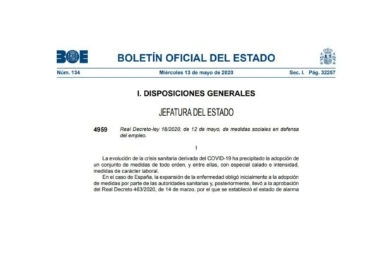 Real Decreto Ley 18-2020