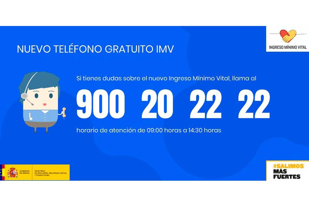Teleléfono 900 ingreso minimo vital