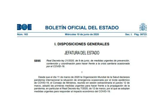 Real Decreto ley 21/2020