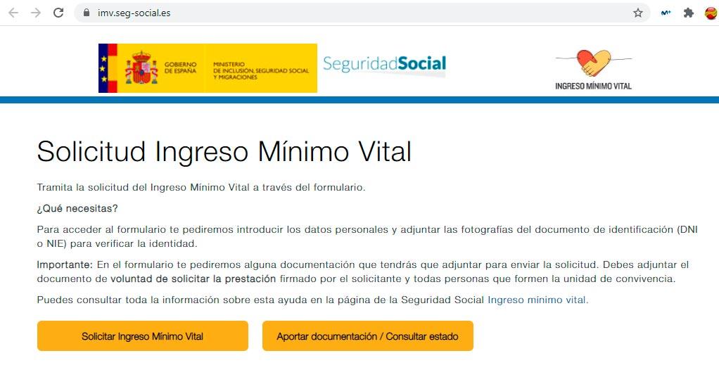 Consultar estado solicitud ingreso minimo vital