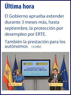 Leer noticia. Se amplia 3 meses la protección por ERTE y para autónomos