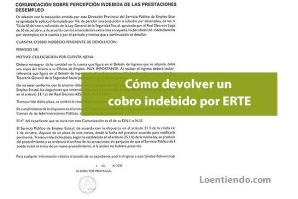 El SEPE comienza a reclamar la devolución de cobros indebidos por ERTE