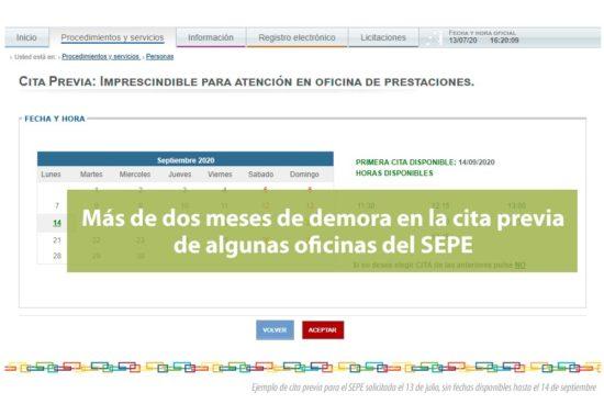 Demora en atención presencial en las oficinas del SEPE