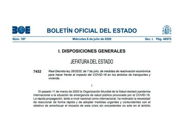 Real Decreto-ley 26/2020