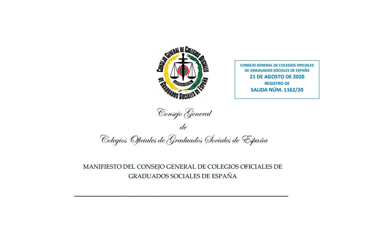 Manifiesto graduados sociales propuestas erte