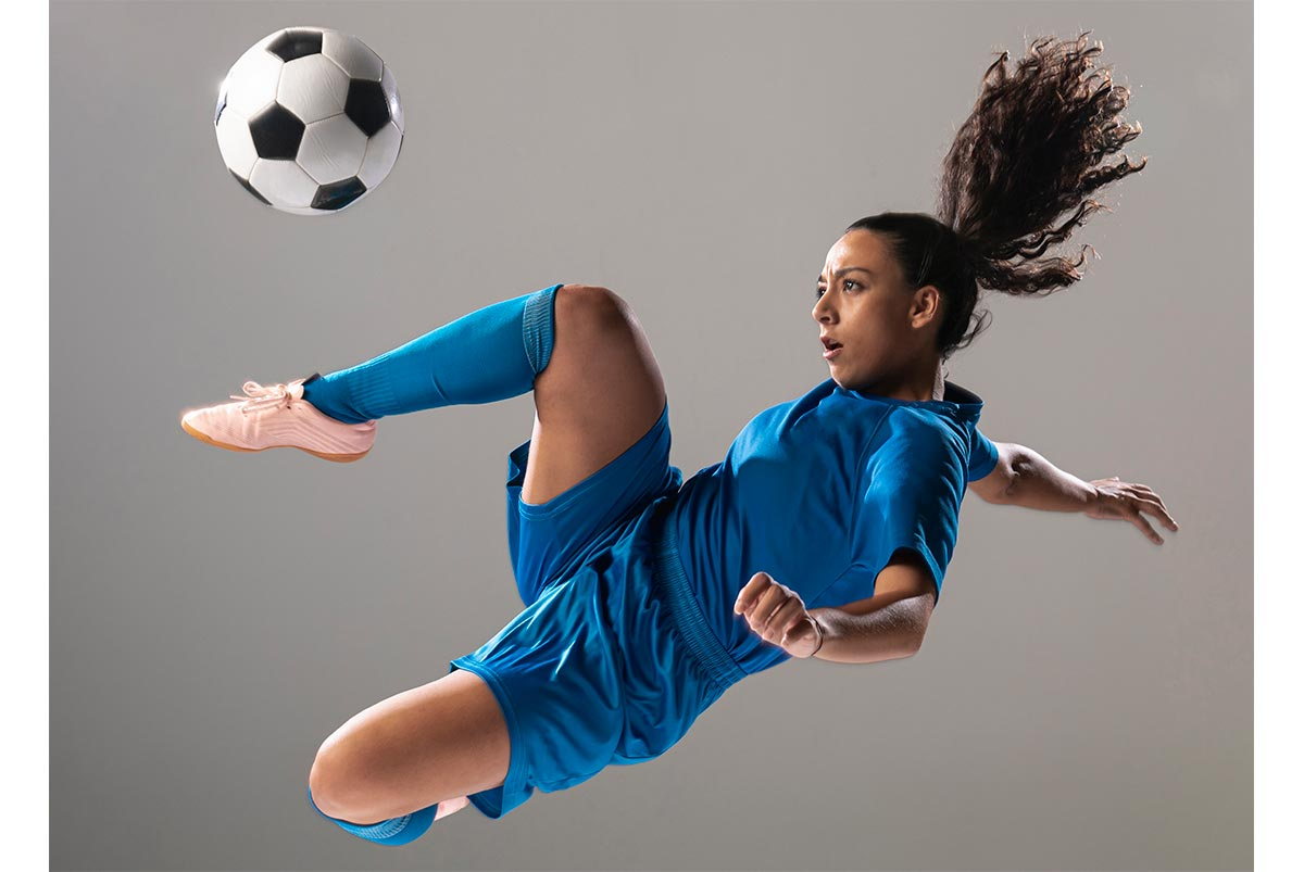 Mujer futbolista profesional
