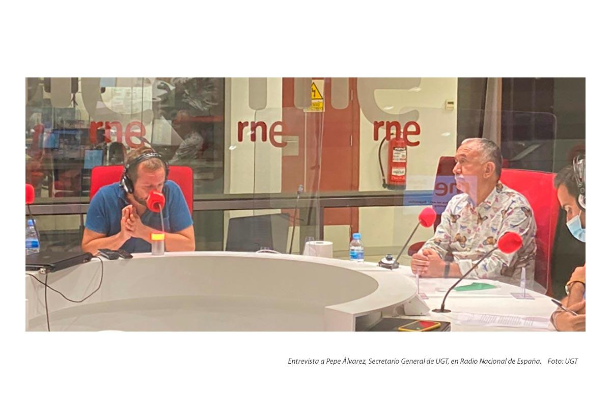 Entrevista a Pepe Álvarez en Radio Nacional de España