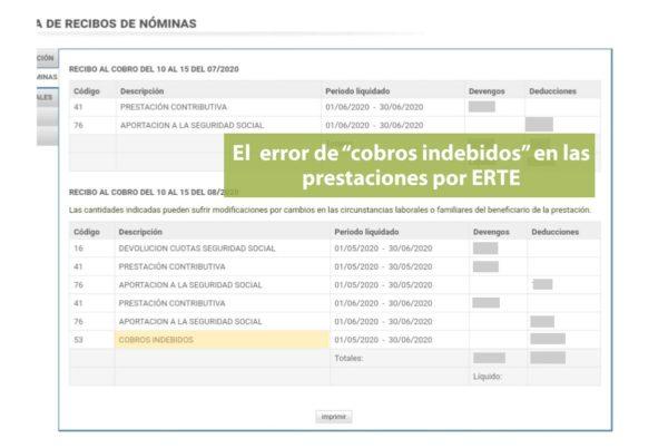 El error de los cobros indebidos en las aplicaciones web del SEPE