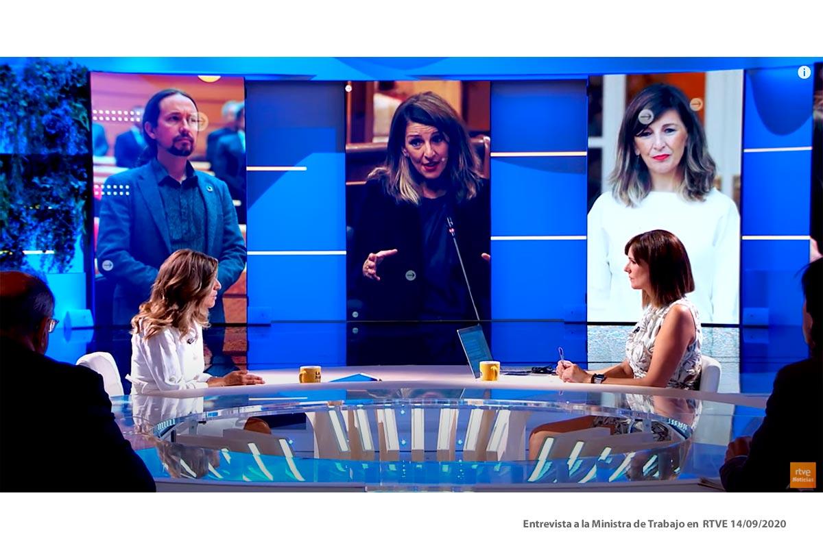 Entrevista a la Ministra de Trabajo en RTVE