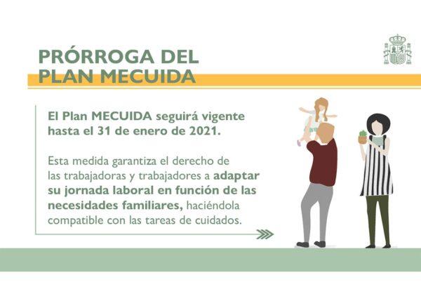 El Plan MECUIDA se amplía hasta el 31 de enero