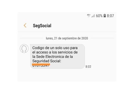 Servicios de la Seguridad Social con acceso por SMS
