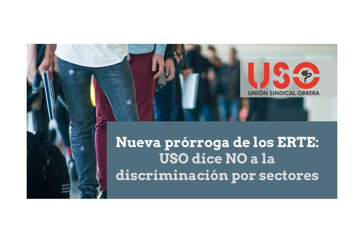 Petición USO para la prorroga de ERTES en todos los sectores