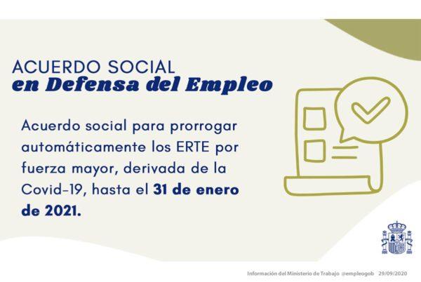 La prórroga automática de los ERTE, no es automática