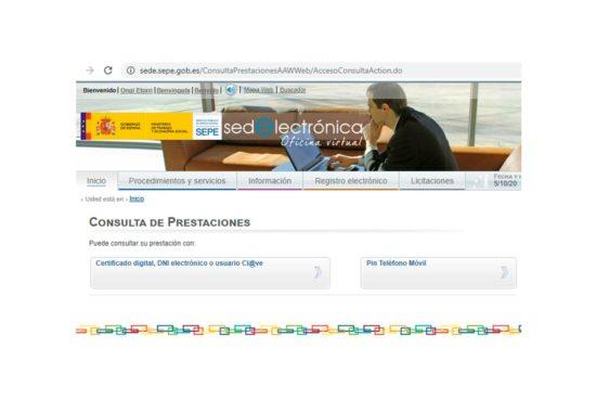 Vuelve a estar disponible la consulta online de prestaciones del SEPE