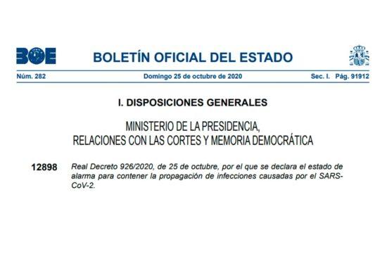 Real Decreto 926/2020