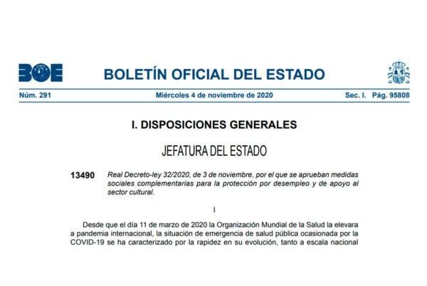 Real Decreto-ley 32/2020
