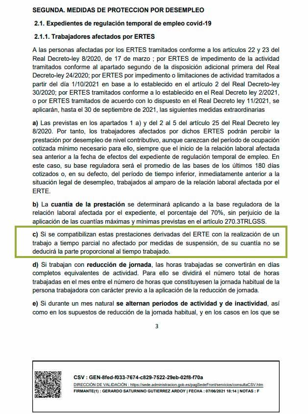 Instruccion provisional SEPE junio 2021