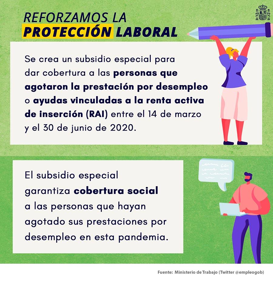 Nuevo subsidio especial por desempleo