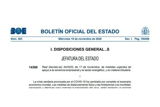 Real Decreto-ley 34 -2020
