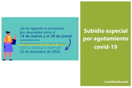 Subsidio especial por agotamiento covid-19
