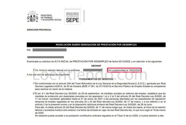 Un cambio de criterio del SEPE permitirá acceder a prestaciones a todos los afectados por ERTE de rebrote