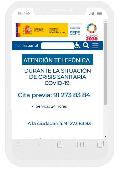 Cita previa INEM SEPE por TELEFONO