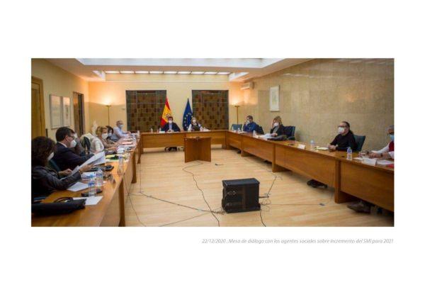Las negociaciones sobre la subida del Salario Mínimo se aplazan