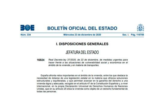 Real Decreto-ley 37-2020
