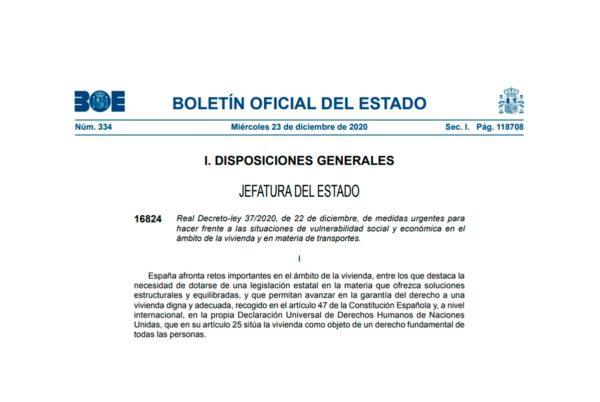 Real Decreto-ley 37/2020