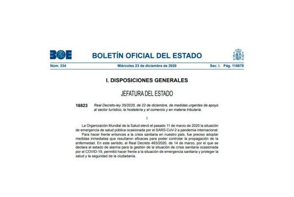Real Decreto-ley 35/2020