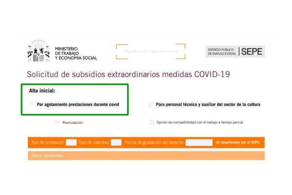 Finaliza el plazo para solicitar el subsidio especial por agotamiento covid-19