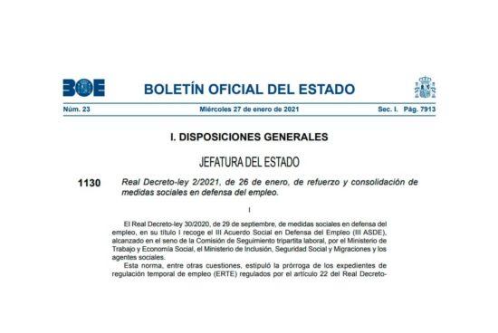 Real Decreto Ley 2/2021