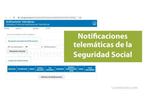 Consultar las notificaciones telemáticas de la Seguridad Social