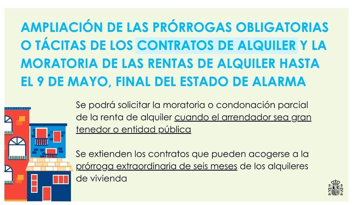 Prorrogadas medidas para proteger el alquiler de vivienda