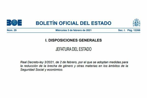 Real Decreto-ley 3/2021
