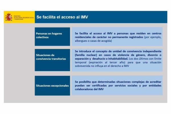 El gobierno flexibiliza algunos requisitos del Ingreso Mínimo Vital
