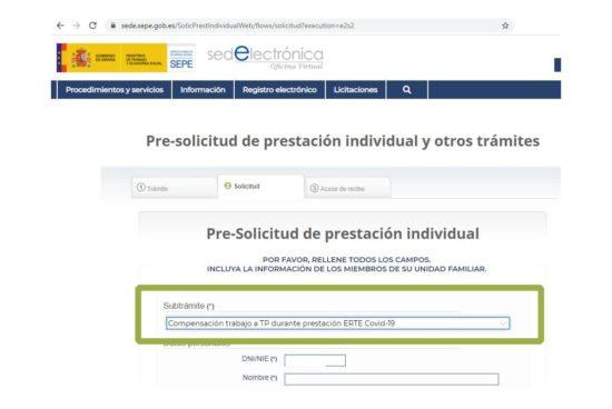 Compensación por compatibilidad ERTE y trabajos a tiempo parcial