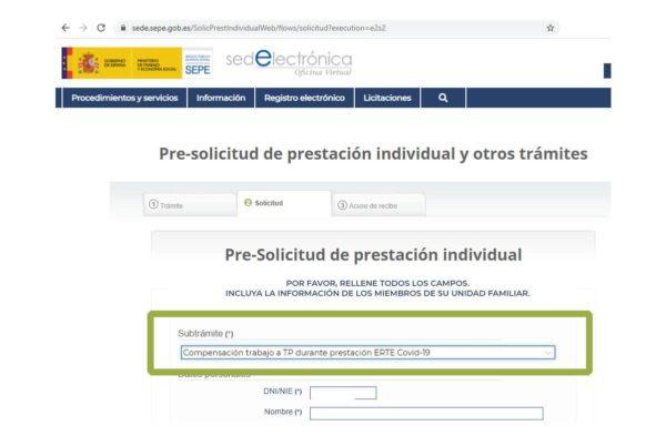 Cómo solicitar al SEPE la compensación económica por ERTE y trabajos a tiempo parcial