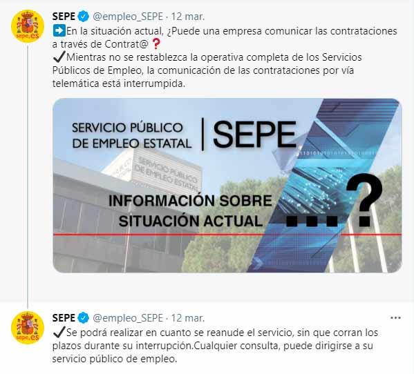 Suspensión de plazos para el resto de gestiones en el SEPE