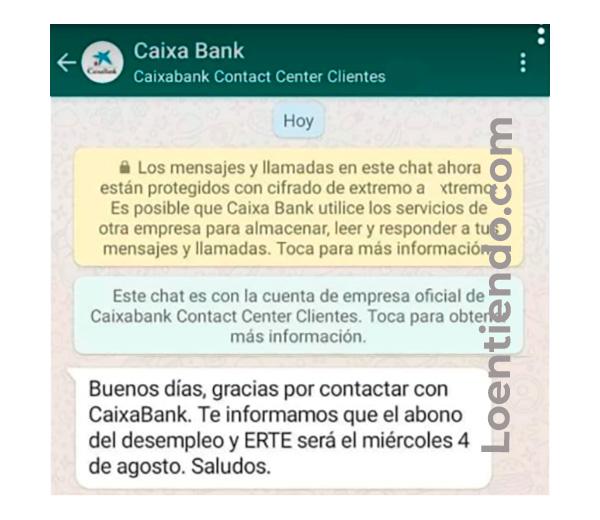 Caixabank y Bankia confirman pago del paro el 4 de agosto de 2021
