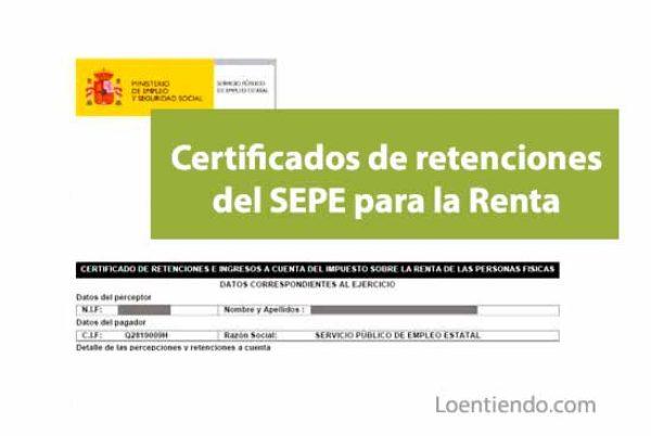 Cómo obtener un certificado del SEPE (INEM) para la declaración de la Renta